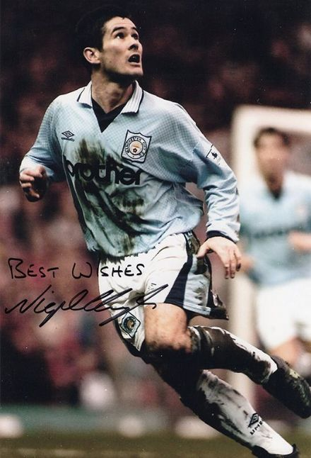 Nigel Clough, Manchester City & England, signed 12x8 inch photo.